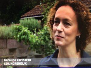 Karoline voor TV Rijnmond